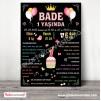 1 Yaş Doğum Günü Panosu Cupcake ve Balon Temalı 037