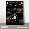 1 Yaş Doğum Günü Panosu Cupcake ve Balon Temalı 048