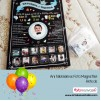 1 Yaş Doğum Günü Anı Panosu Kral 097