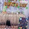 1 Yaş Doğum Günü Panosu Safari Temalı 066