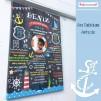 1 Yaş Doğum Günü Panosu Deniz Tema 078
