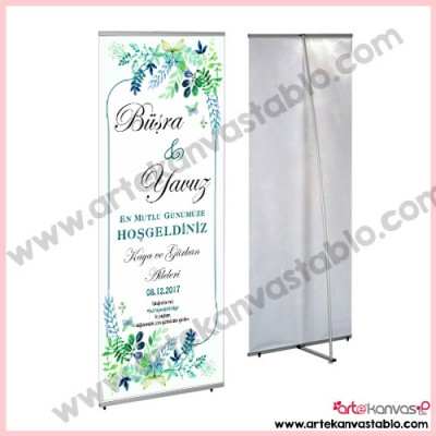 Quick Banner Düğün Nişan Misafir Karşılama 80x200 cm