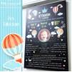1 Yaş Doğum Günü Panosu Sıcak Hava Balonu Temalı 057