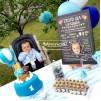 1 Yaş Doğum Günü Panosu Balon Temalı 008