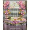 Doğum Günü Pano / Branda Afiş Altın Çiçek Temalı
