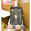 1 Yaş Doğum Günü Panosu Vintage Çiçek Temalı 068