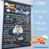 1 Yaş Doğum Günü Panosu Uçak Tema 075