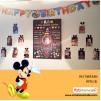 1 Yaş Doğum Günü Panosu Mickey Mouse Tema 079