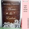 Düğünümüze Hoşgeldiniz Misafir Karşılama Panosu 0254