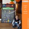 1 Yaş Doğum Günü Panosu Susam Sokağı Temalı 051