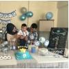 1 Yaş Doğum Günü Panosu Fotoğraflı Rakam Temalı 025