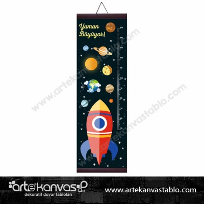 Boy Ölçer Branda 150x50 cm Uzay 002