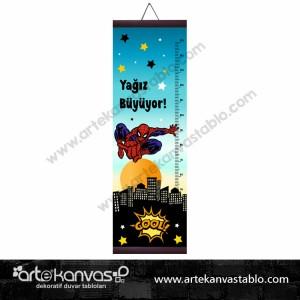Boy Ölçer Branda 150x50 cm Örümcek Adam 006