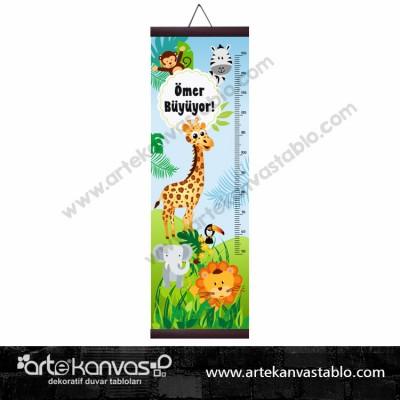 Boy Ölçer Branda 150x50 cm Hayvanlar Safari 008
