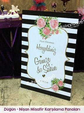 Düğün - Nişan Misafir Karşılama Panoları