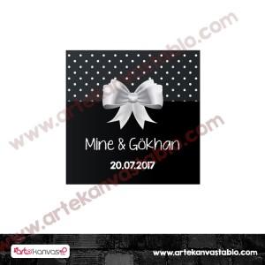 Etiket - Sticker - Karton 5x5 cm 50 adet