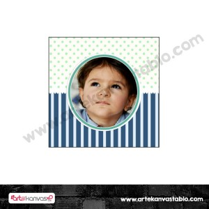 Etiket - Sticker - Karton Fotoğraflı 5x5 cm 50 adet