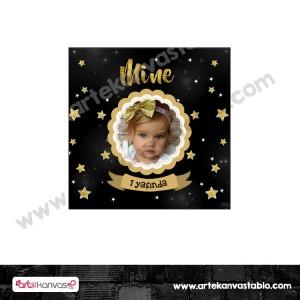 Etiket - Sticker - Karton Yıldız Tema 5x5 cm 50 adet