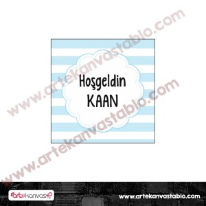 Etiket - Sticker - Karton Hoşgeldin Bebek 5x5 cm 50 adet