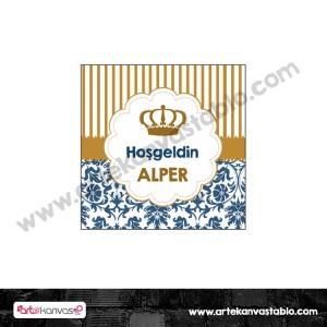 Etiket - Sticker - Karton Kral Tema 5x5 cm 50 adet