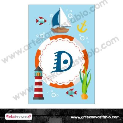 Harf Banner Bayrak Flama Denizci Temalı 15x20 cm