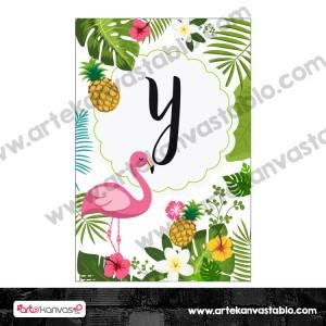 Harf Banner Bayrak Flama Flamingo Ananas Temalı 15x20 cm
