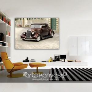 Eski Otomobil Kanvas Tablo