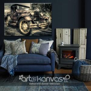 Old Car Kanvas Tablo