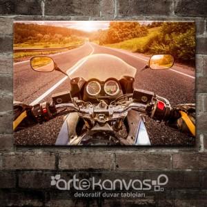 Motosiklet Kanvas Tablo
