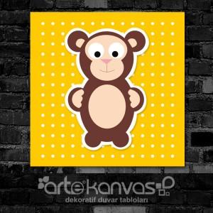 Maymun Çocuk Odası Kanvas Tablo