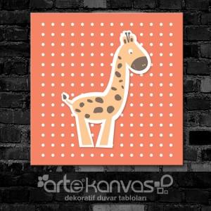 Zürafa Çocuk Odası Kanvas Tablo