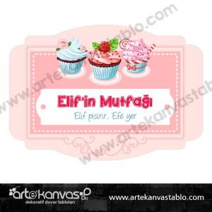 Kapı Süsü Mutfak Cupcake 35x50 cm 0077K