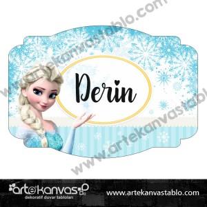 Elsa Çocuk Bebek Odası 35x50 cm Kapı Süsü 224K