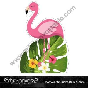 Flamingo Kesimli Dekor Pano