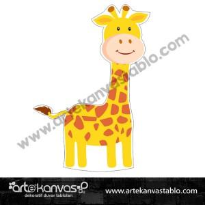 Zürafa Kesimli Dekor Pano