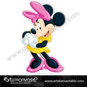 Minnie Mouse Kesimli Dekor Pano