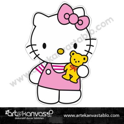 Hello Kitty Kesimli Dekor Pano