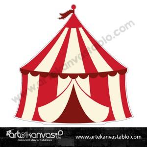 Sirk Çadırı Kesimli Dekor Pano
