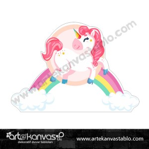 Unicorn Little Pony Kesimli Dekor Pano