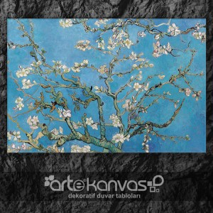 Blossoming Almond Tree Van Gogh Kanvas Tablo