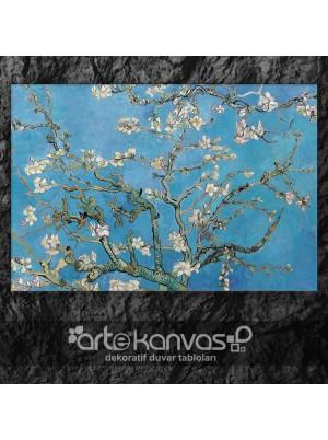Blossoming Almond Tree Van Gogh Kanvas Tablo