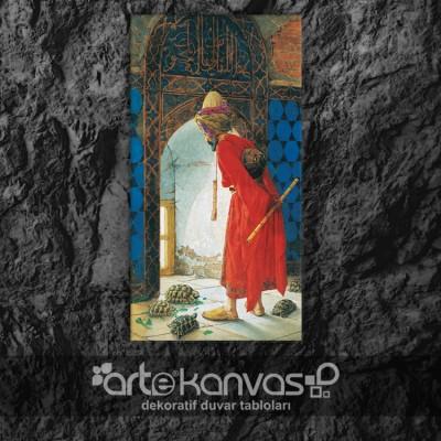 Kaplumbağa Terbiyecisi Osman Hamd Bey  Kanvas Tablo