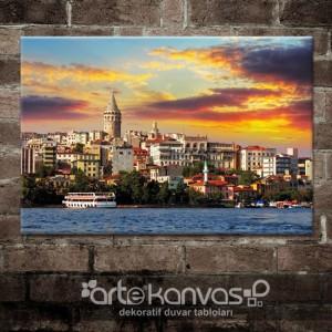 İstanbul Manzarası Kanvas Tablo