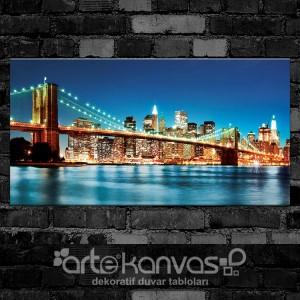 New York Brooklyn Köprüsü Kanvas Tablo