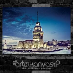 İstanbul Kız Kulesi Kanvas Tablo