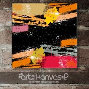 Renkli Fırça Kanvas Tablo
