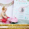 1 Yaş Doğum Günü Panosu Vintage Temalı 063