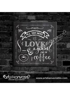 Love Coffee Kanvas Tablo