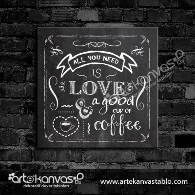 Love Coffee Kanvas Tablo