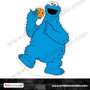 Kurabiye Canavarı Cookie Monster Kesimli Dekor Pano